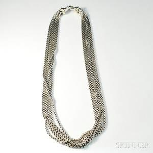 David Yurman Sixstrand Sterling Silver Necklace