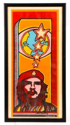Ral Martnez Che Guevara Silkscreen Signed