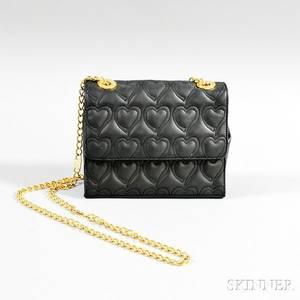 Escada Charcoal Gray Leather Shoulder Bag