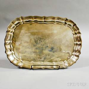 Frank W Smith Chippendale Sterling Silver Tray