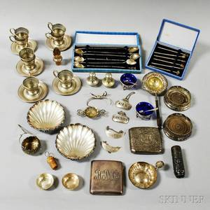 Group of Assorted Sterling Silver and Silverplated Tableware and Accessories