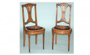 294 English Late 19th Century Regency Mahogany Leather