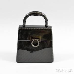 Salvatore Ferragamo Black Hardcase Bag