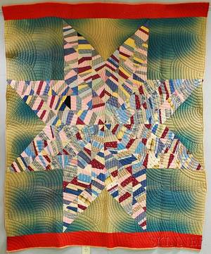Star of Bethlehem Patchwork Quilt