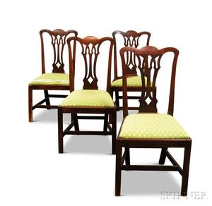 Set of Four Chippendale Mahogany Side Chairs
