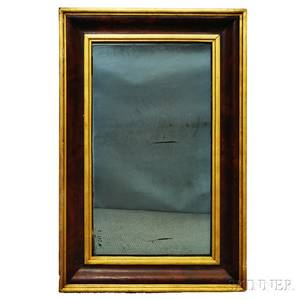 Parcelgilt and Mahogany Veneer Ogee Mirror