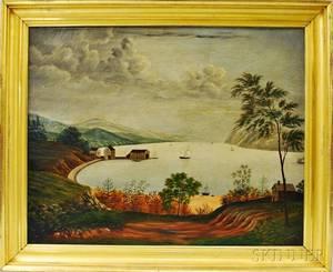 American School 19th Century Hudson River Landscape