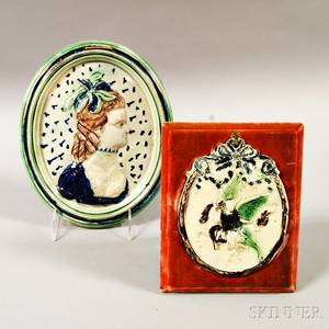 Two Continental Ceramic Plaques