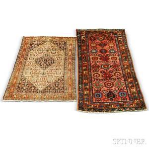 Senneh Rug and a Hamadan Rug