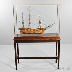 Fine Scale Model of the USS Constitution Old Ironsides