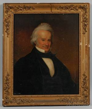 American School Mid19th Century Portrait of Rhode Island Governor and United States Senator John Brown Francis 17911864