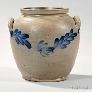 Cobaltdecorated Ovoid Pennsylvania Stoneware Crock