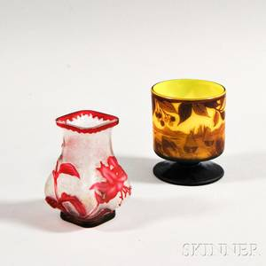 Two Cameo Glass Items