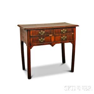 George III Mahogany and Mahogany Veneer Dressing Table
