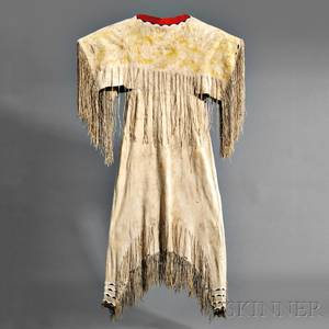 Southern Cheyenne Beaded Hide Womans Dress
