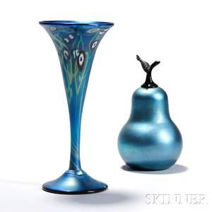 Two Art Glass Items by S Lundberg and C Radke
