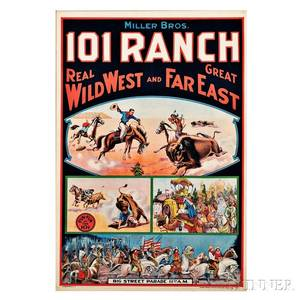 Framed Miller Bros 101 Ranch Wild West Show Poster