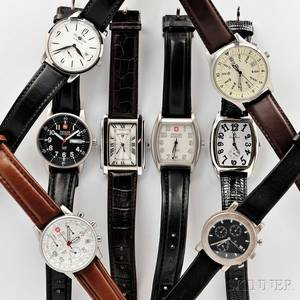 Eight Swiss and German Wristwatches