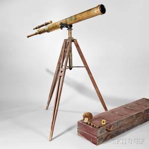 Gundlach Optical Co 5 12inch Brass Refractor Telescope