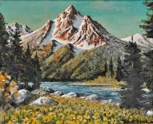 Robert William Wood American 18891979 Teton Afternoon