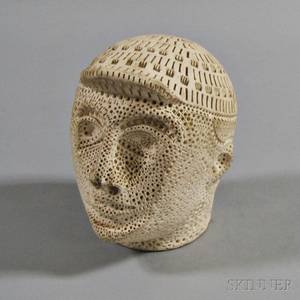 Alexander Ney Russian b 1939 Male Head Wearing a Cap