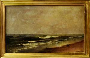 Frank Knox Morton Rehn American 18481914 Surf Scene with Gulls