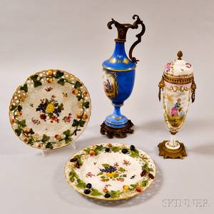 Four Pieces of Continental Porcelain