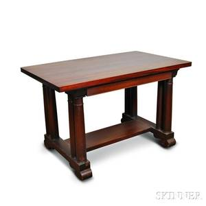 Empirestyle Mahogany Library Table