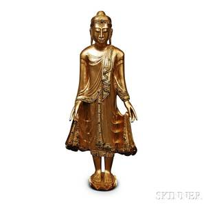 Carved Giltwood Buddha Statue