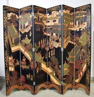 Sixpanel Lacquered Wall Screen