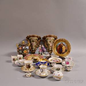 Twentyeight Pieces of Continental Porcelain
