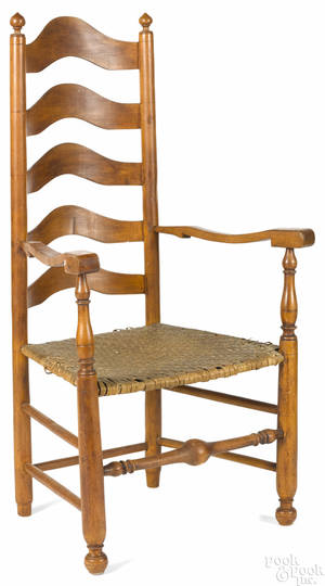 Delaware Valley fiveslat ladderback armchair late 18th c