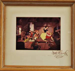 Walt Disney Studios American 20th Century Reproduction Print of an Animation Cel from Snow White and the Seven Dwarfs