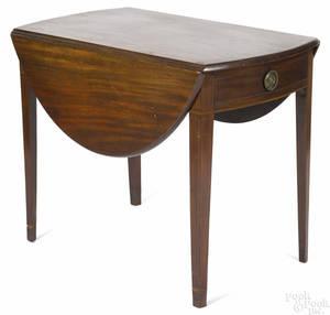 Hepplewhite mahogany Pembroke table ca 1810