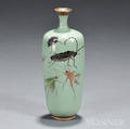 Cloisonne Vase with Insects