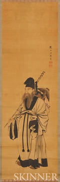 Hanging Scroll Depicting a Hermit Scholar