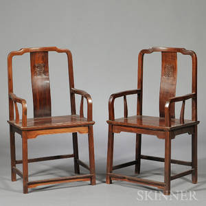 Pair of Continuous Yokeback Armchairs