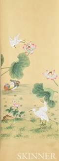 Five Illustrated Wallpaper Panels