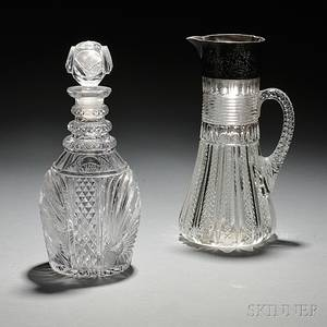 Two Colorless Glass Items