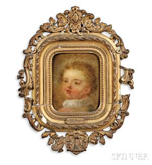 Jean Baptiste Greuze French 17251805 Bust of a Child