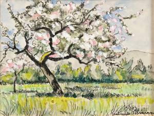 PaulEmile Pissarro French 18841972 Flowering Tree