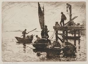 Frank Weston Benson American 18621951 Boats at Dawn