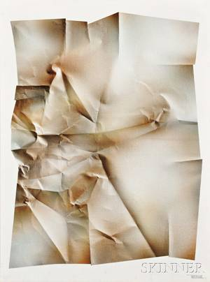 Leonardo M Nierman Mexican b 1932 Untitled Crinkled Paper