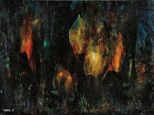 Leonardo M Nierman Mexican b 1932 Untitled Fire