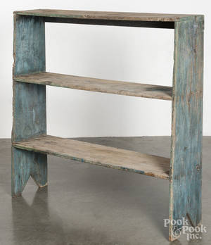Painted pine bucket bench
