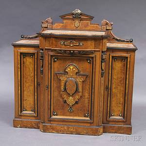 Renaissance Revival Walnut Marbletop Sideboard