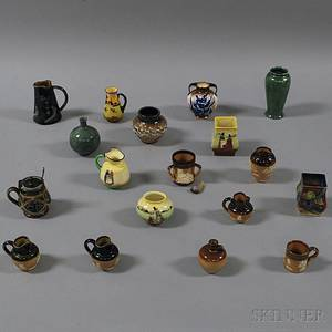 Eighteen Mostly Miniature Doulton Items