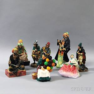 Eight Royal Doulton Character Figures