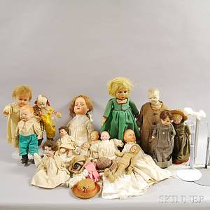 Large Group of Assorted Dolls