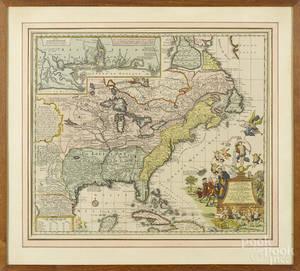 Restrike map of America